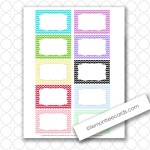 6 blank chevron cards