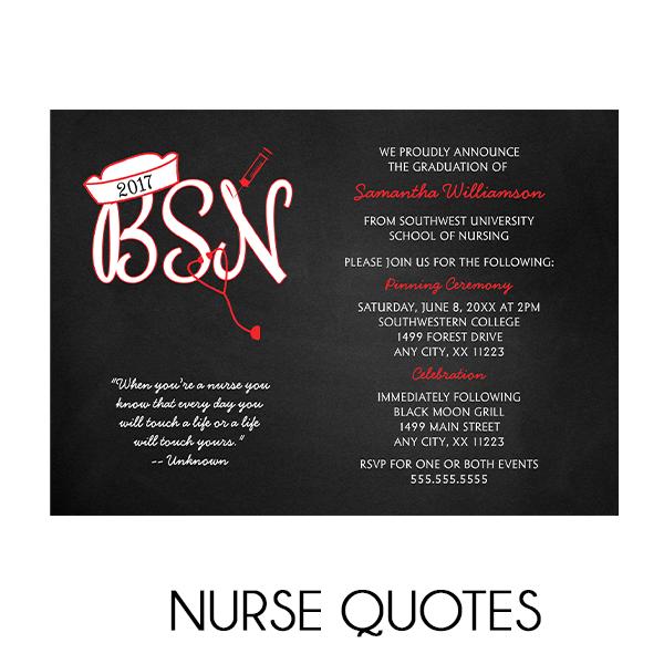 Nurse Quotes For Graduation Invitations